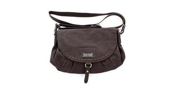 Dámska hnedá kabelka s logom Levis