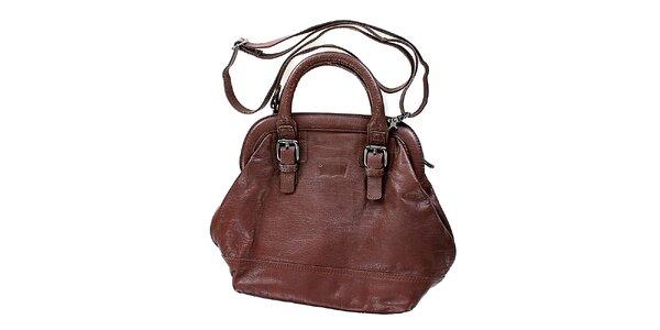 Dámska kožená hnedá kabelka Levis