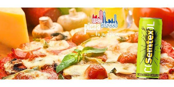 Pizza podľa vlastného výberu + nápoj