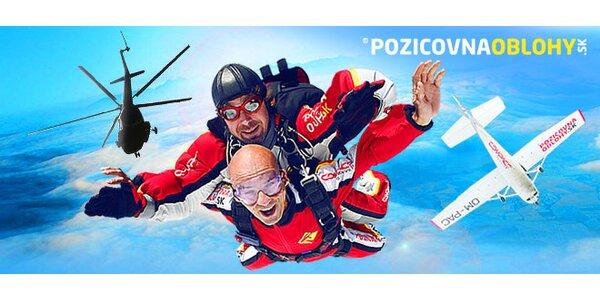 Tandemový zoskok z lietadla alebo vrtuľníka