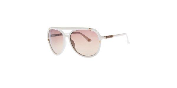 Dámske biele slnečné okuliare s jemným gradientným efektom Michael Kors
