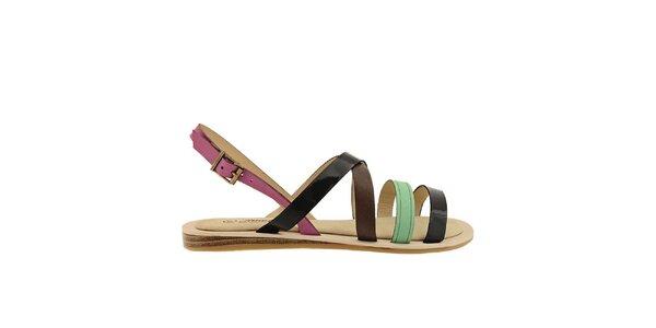 Dámske farebné remienkové sandále Timeless