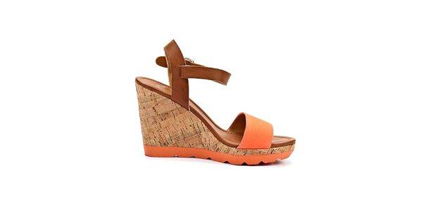 Dámske korkové sandále na platforme Rascal