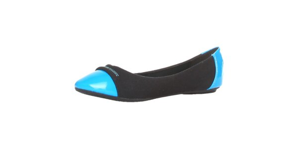 Dámske modro čierne balerínky Ana Lublin