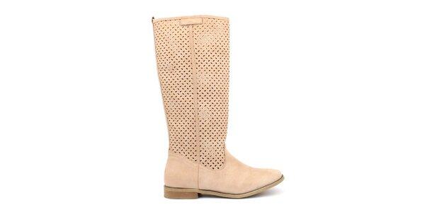 Dámske béžové topánočky s perforáciou Trendy Too