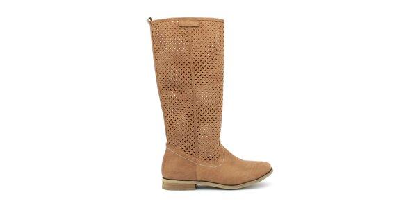 Dámske hnedé topánočky s perforáciou Trendy Too