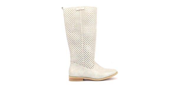 Dámske krémovo biele topánočky s perforáciou Trendy Too