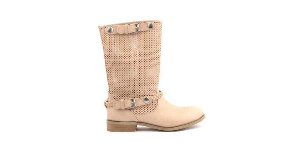 Dámske béžové nízke topánočky s perforáciou Trendy Too