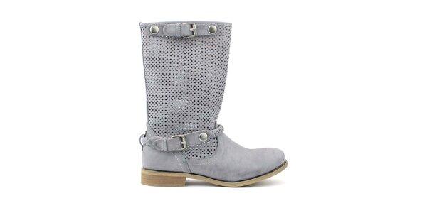 Dámske šedé nízke topánočky s perforáciou Trendy Too