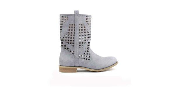 Dámske šedé perforované nízke topánočky Trendy Too