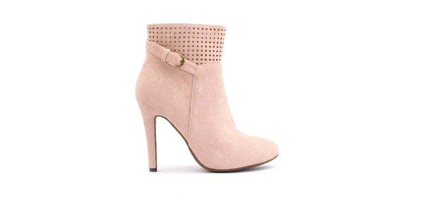 Dámske ružové topánky s perforovanou hornou časťou Trendy Too