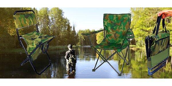 Skladacie stoličky na ryby i do prírody