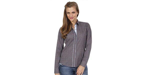 Dámska slim fit košeľa s potlačou Pontto