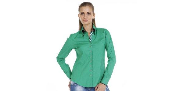 Dámska smaragdová bavlnená košeľa Pontto