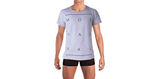 Pánske šedé tričko Mosmann