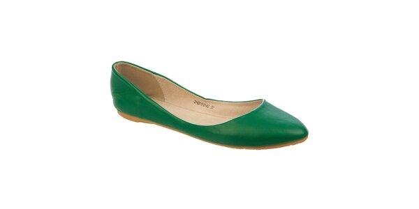 Dámske tmavo zelené balerínky Betsy