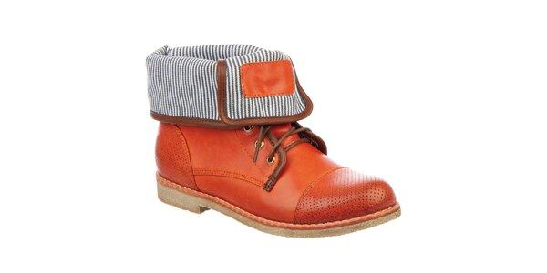 Dámske kotníčkové topánky v tehlovej farbe Betsy