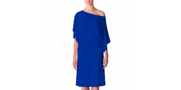 Dámske modré šaty s voľným ramenom Yuliya Babich