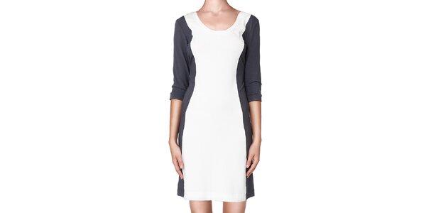 Dámske šedo-biele šaty Yuliya Babich