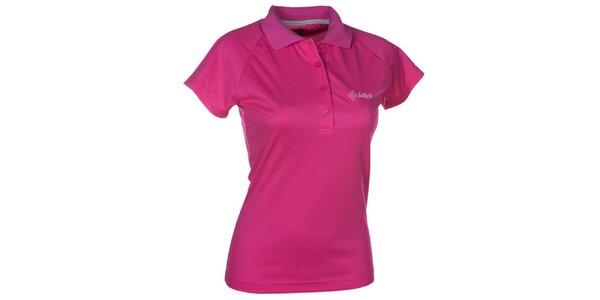 Dámske ružové funkčné polo tričko Kilpi