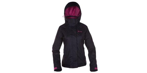 Dámska čierna outdoorová bunda s kapucňou Kilpi