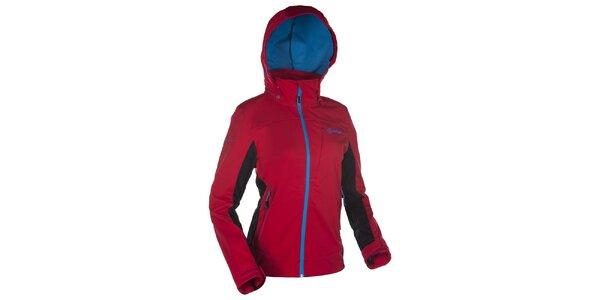 Dámska softshellová červená bunda s kapucňou Kilpi
