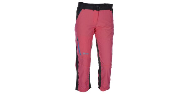 Dámske 3/4 ružovo-čierne nohavice Kilpi
