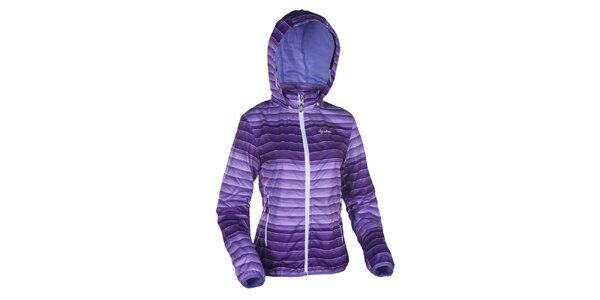 Dámska fialovo pruhovaná softshellová bunda Kilpi