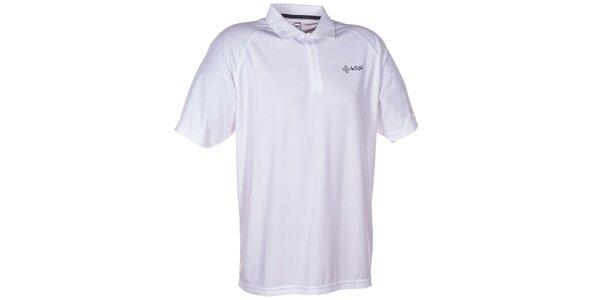 Pánske biele technické polo tričko Kilpi