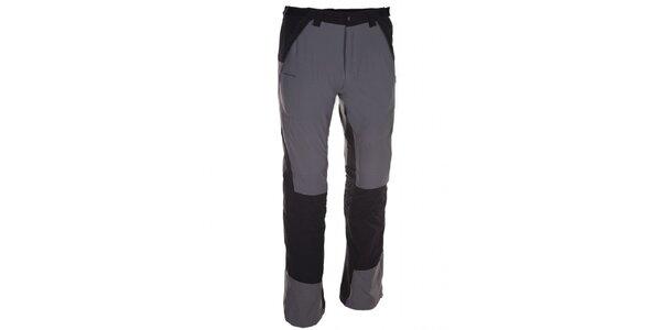 Pánske šedo-čierne nohavice Kilpi