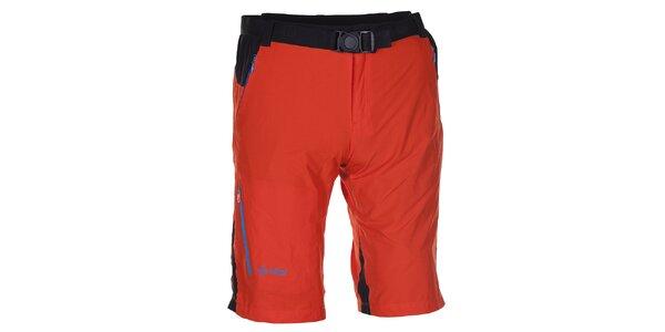 Pánske oranžovo-čierne technické šortky Kilpi