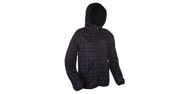 Pánska čierna softshellová bunda so vzorom Kilpi
