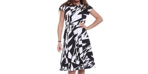 Dámske čiernobiele šaty Oriana