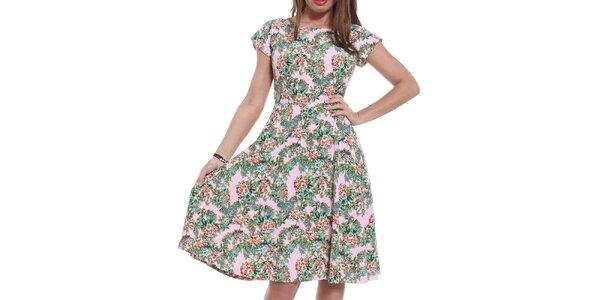 Dámske šaty s kvetinovou potlačou Oriana