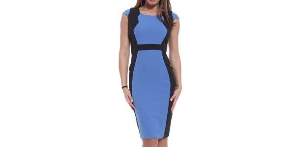 Dámske modro-čierne šaty Oriana