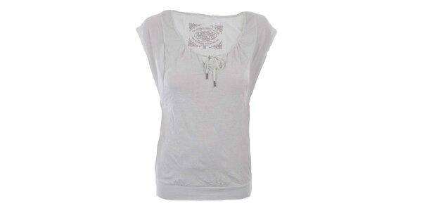 Dámske biele tričko s mašličkou Timeout