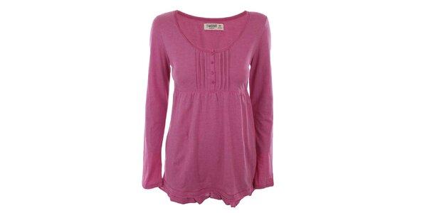 Dámske ružové tričko s dlhým rukávom Timeout