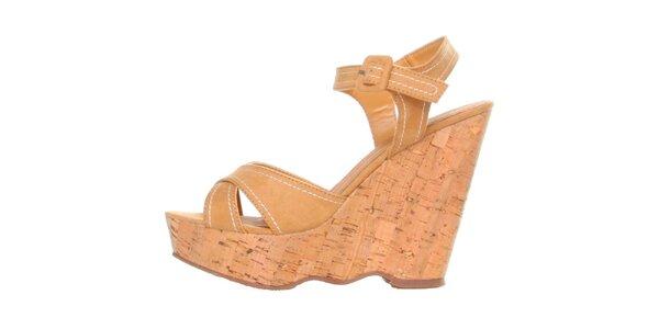Dámske ťavie sandálky na platforme Ana Lublin