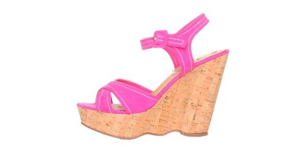 Dámske sýto ružové sandálky na platforme Ana Lublin