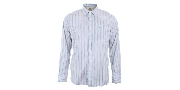 Pánska modro-biela košeľa s prúžkami Timeout