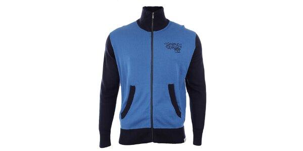 Pánsky sveter s tmavo modrými rukávmi Timeout