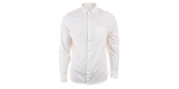 Pánska svetlá košeľa s dlhým rukávom Timeout