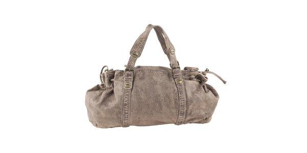 Dámska svetlá kožená podlhovastá kabelka Amylee
