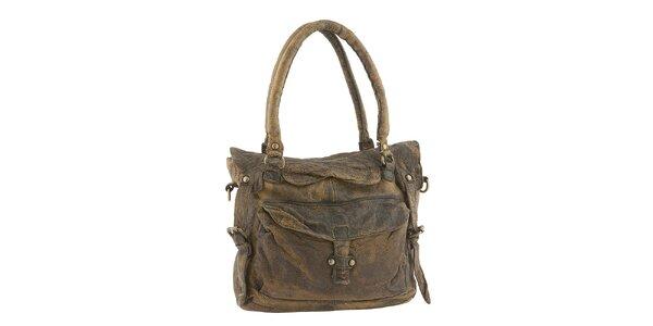 Dámska hnedá kabelka s ramenným popruhom Amylee