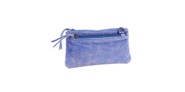 Dámska modrá kožená minikabelka Amylee