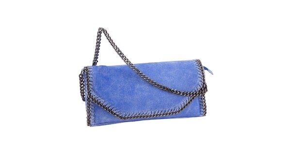 Dámska modrá vintage listová kabelka Amylee