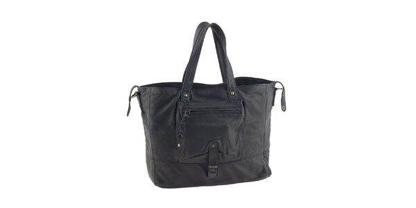 Dámska čierna kabelka s vreckom Amylee