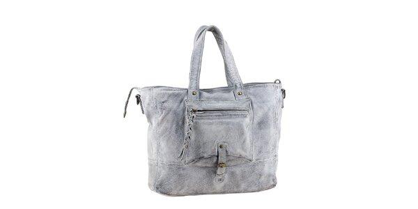 Dámska šedá kabelka s vreckom Amylee