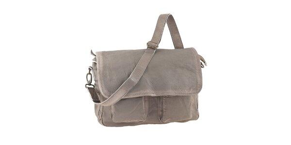 Dámska kožená taška s klopou Amylee
