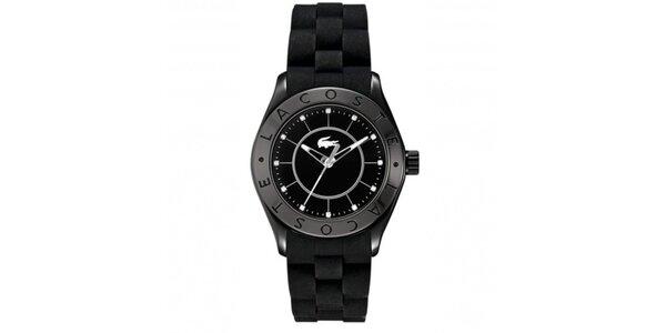 Pánske hodinky v čiernej farbe Lacoste